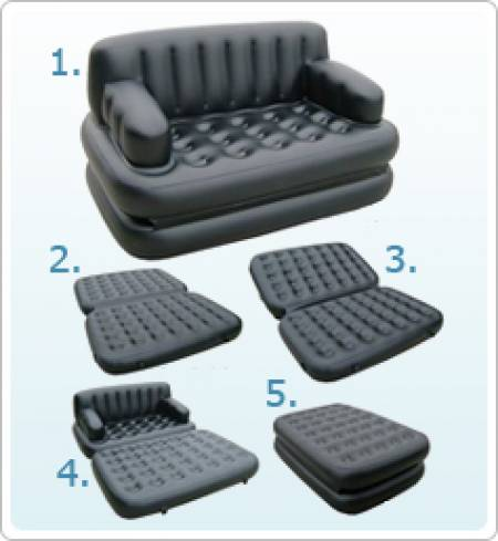 5 in 1 sofa cum bed air lounge