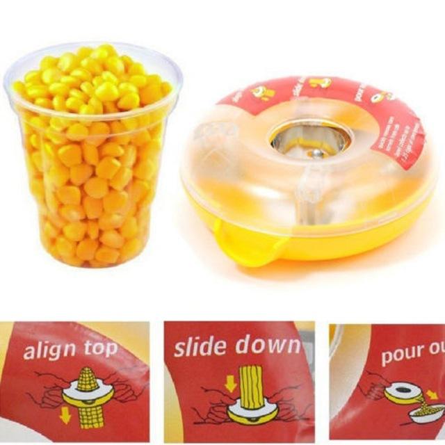 Corn grain peeler